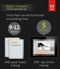 vivint reducing technician training time by 50 adobe experience