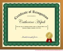you can create a certificate of recognition in word for or
