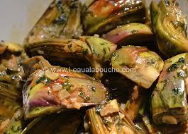 cuisiner les artichauts violets artichauts poivrade au persil et à l ail l eau à la bouche