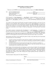 irrevocable letters of credit samples professional resumes