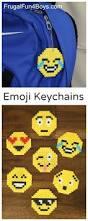 emoji perler bead keychains great for an emoji birthday party