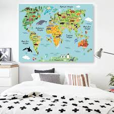 World Map Wall Sticker by Animals World Map Wall Decal U2013 Rocky Mountain Decals