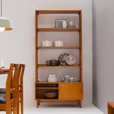 vintage bookshelf cabinet type a sliding door furniture