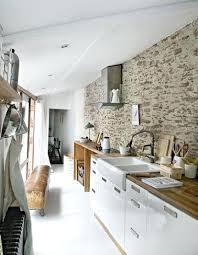 de cuisine decoration mur cuisine un mur en brique cest stylac en dacco de