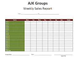 Sales Call Reports Templates Free by Weekly Report Format In Excel Resume Templates