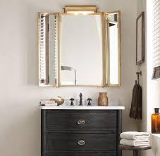 tri fold mirror bathroom cabinet tri fold lit wall mirror restoration hardware furniture