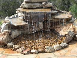 outdoor backyard garden statue water fountain less waterfall with