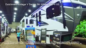 dutchmen voltage v series 5th wheel toy 4105 youtube