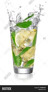 cocktail splash lemonade glass splashing isolated image u0026 photo bigstock