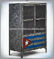 Tall Metal Storage Cabinet Handicrafts Home Furniture Vintage Painted Large High Tall Metal