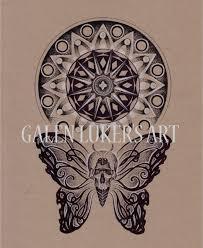skull butterfly mandala design bohemian 1731 st