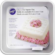 square cake performance pans 6 square cake pan wilton