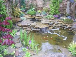 Small Garden Ponds Ideas Decorating Garden Beautiful Fish Pond Design With Waterfall And