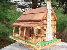 fashionable ideas 12 log cabin bird house plans birdhouse free
