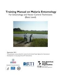 training manual on malaria entomology pdf download available