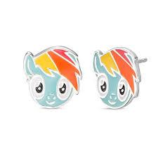 my pony earrings child s 2018 hasbro my pony enamel stud earrings in