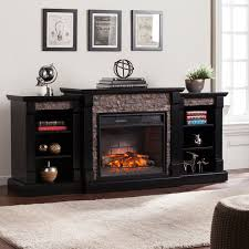southern enterprises tennyson espresso electric fireplace with
