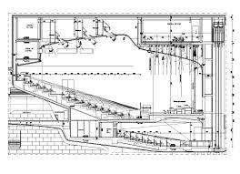 museum floor plan dwg auditorium section 2 u2013 cad design free cad blocks drawings details