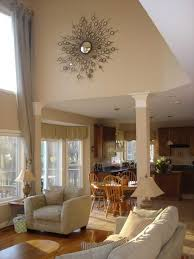 Decorating Ideas For Living Rooms With High Ceilings Stunning Living Room With High Ceilings Decorating Ideas And
