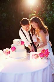 wedding cake cutting cutting cake simple w pop of color so much happiness from this