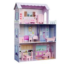 Doll House Furniture Target Amazon Com Teamson Kids Fancy Mansion Wooden Doll House With 13