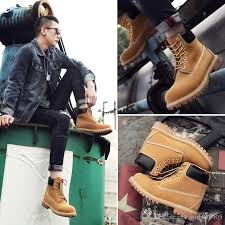 yellow boots s shoes boots leather big yellow boots martin boots and