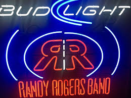 bud light lighted sign randy rogers bud light neon beer sign texas country rare bar pub man