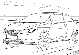 seat ibiza coloring page free printable coloring pages