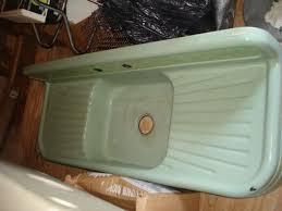 Best Sinks Images On Pinterest Farm Sink Vintage Sink And - Enamel kitchen sink