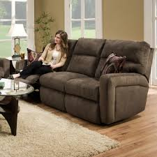 Contemporary Styled Double Reclining Sofa For Family Rooms By - Family room sofas