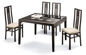 poker cappuccino table and scala chairs modern casual dining sets