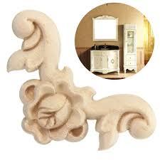 aliexpress com buy 4pcs 6x6cm wood carved corner onlay applique