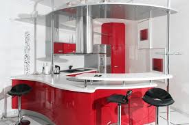 Red Black White Kitchen - only then deluxe design furniture modern kitchen red cabinets