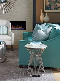 Teal Accent Table Ariana Martini Stainless Accent Table Lexington Home Brands