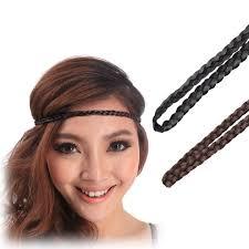 elastic hair band hairstyles belly dance hair band fashion braid women headband faux hair piece