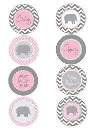 pink and grey baby shower elephant pink and gray chevron baby