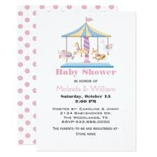 carousel baby shower carousel baby shower baby shower invitations baby shower invitations