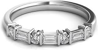 baguette diamond band baguette diamond wedding band sntwbap118a