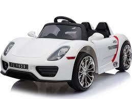 porsche white car porsche 918 style 12v children u0027s ride on battery operated car