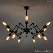 Decorative Chandelier Ceiling Plate Spider Chandelier Vintage Industrial Lamp Edison Ceiling Light