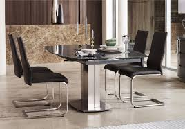 Dining Room Sets 4 Chairs by Flow Swivel Glass Extending Dining Table With 4 Chairs Furniture