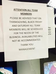 target breakroom forum black friday off kmart to employees come to work or your fired