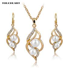 bridal wedding necklace set images Toucheart simulated pearl indian wedding jewelry sets for women jpg