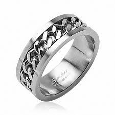 alliance pour homme bague anneau de fiançaille alliance homme femme acier chaine enchainée