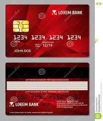 Credit Card Business Cards Designs Credit Cards Two Sides Design Vector Illustration For Your