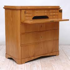 biedermeier ash chest of drawers with fold down drawer front