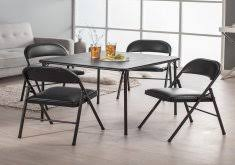 cosco products 5 piece folding table and chair set black 5 piece card table set cosco home and office products 5 piece black