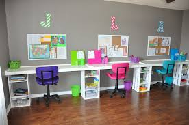 Kids Homework Station by Sunny Simple Homeschooling Small Space Homeschool Room Ideas