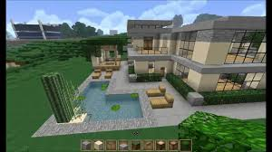 Modern Houses Minecraft Minecraft Let U0027s Build Large Modern House Part 3 Youtube