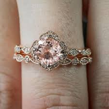 girls wedding rings images 2 pcs set crystal ring jewelry rose gold color wedding rings for jpg
